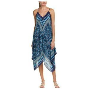 J. Mclaughlin Silk Printed Asymmetrical Dress